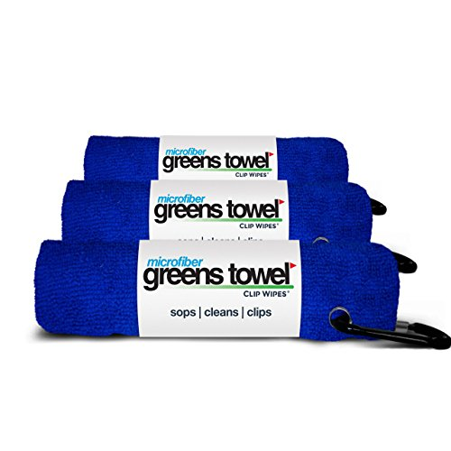 3 Pack of Royal Blue Microfiber Golf Towels