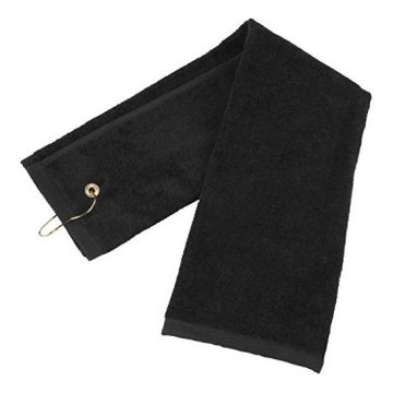 Flammi TriFold Cotton Golf Sports Towel with Grommet Include Metal Clip 16″ x 25″