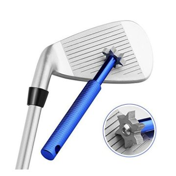 Golf Club Groove Sharpener Tool with 6 Cutters Vancle® Golf Club ReGrooving Cleaning Tool 6Tip Golf Accessories