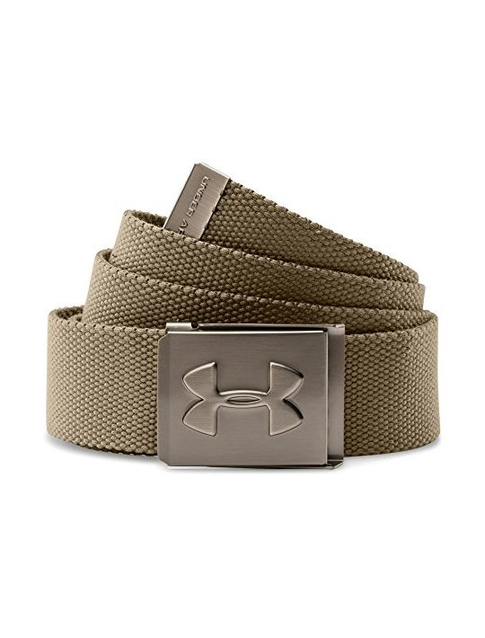 Under Armour Men Webbed Belt Canvas Graphite One Size