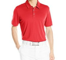 adidas Golf Men Climachill Solid Club Shirt Scarlet XLarge