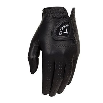 Callaway Golf 2017 Men OptiColor Leather Glove Black Medium Large Worn on Left Hand