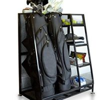 Milliard Golf Organizer  Fit 2 Golf Bags and Other Golf Equipment and Accessories in This Handy Dual Golf Storage Rack  32″x16″x37″