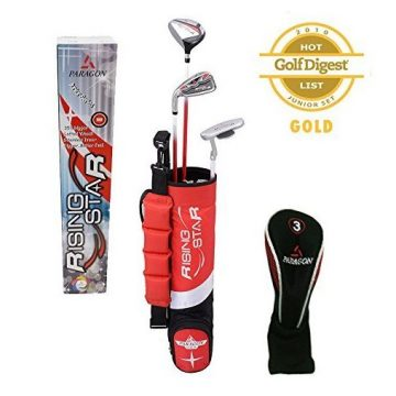 Paragon Golf Youth Golf Club Set Red Ages 35  Right Handed