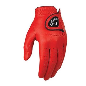 Callaway Golf 2017 Men OptiColor Leather Glove Red Large Worn on Left Hand