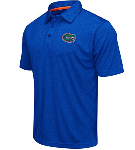Colosseum Men NCAA Heathered TrendSetter Golf Polo ShirtFlorida GatorsHeathered BlueLarge