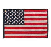 JP Lann Golf USA Flag Golf Towel  Jacquard Style Red White Blue