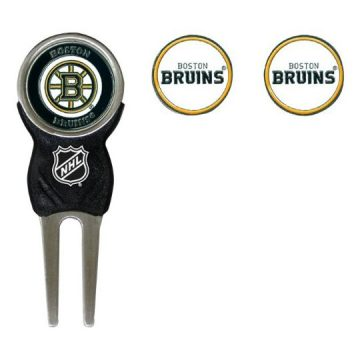 NHL Boston Bruins Divot Tool Pack With 3 Golf Ball Markers