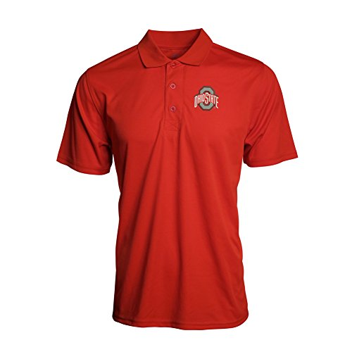 Ohio State Buckeyes Piped Poly Mesh Polo  XL  red scarlet