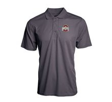 Ohio State Buckeyes Textured Interlock Polo Graphite  XL  graphite charcoal