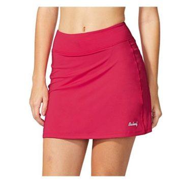 Baleaf Women Active Athletic Skort Lightweight Skirt With Pockets For Running Tennis Golf Workout Red Size M