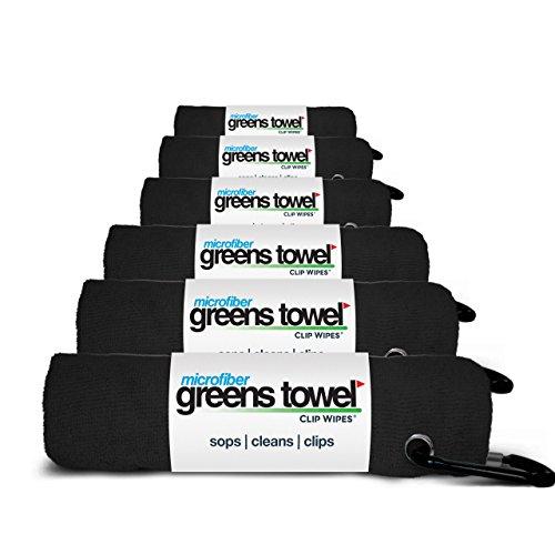 Microfiber Golf Towels 6 Pack By Greens Towel