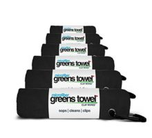Microfiber Golf Towels 6 Pack By Greens Towel