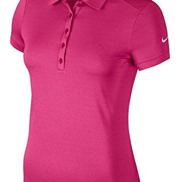 NIKE Women Dry Victory Polo Vivid Pink White Medium
