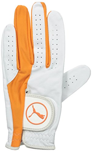 Puma Golf Men Pro Formation Hybrid Glove White Vibrant Orange XLarge Left Hand