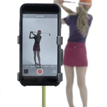 Record Golf Swing  Cell Phone Clip Holder and Training Aid by SelfieGOLF TM  Golf Accessories | The Winner of the PGA Best New Product of 2017 | Compatible With Any Smart Phone