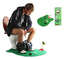 Toilet Golf  Moonmini Potty Putter Set Bathroom Game Mini Golf Set Golf Putting Novelty Set  Play Golf on the Toilet