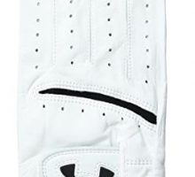 Under Armour Men Strikeskin Tour Golf Glove White White Right Medium Large