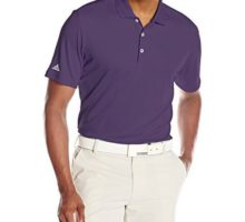 adidas Golf Men Performance Polo Shirt Purple Large