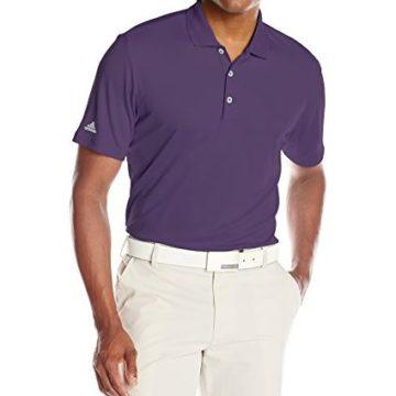 adidas Golf Men Performance Polo Shirt Purple Large