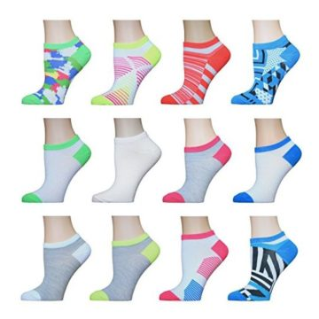 AirStep Women No Show Athletic Socks  12 Pack Multi Sock Size 911 Fits Shoe Size 410