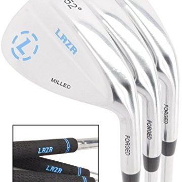 LAZR Premium Golf Wedge Set 52 56 60 Degree 3 Forged Golf Club Wedges For Men