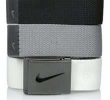 Nike Men 3 Pack Web White Gray Black One Size
