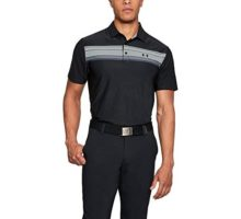Under Armour Men Playoff Polo Black Overcast Gray Medium