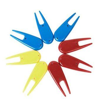 PIXNOR 8pcs Plastic Golf Divot Tool