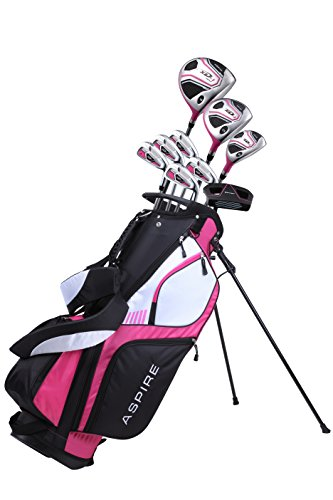 Premium Lightweight Ladies Golf Club Set Right Hand  Cherry Pink Purple All Sizes  Standard Petite Tall Clubs with Lady Flex