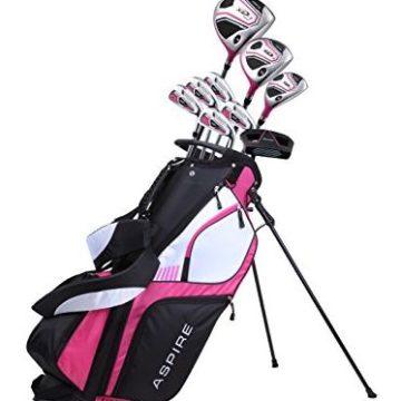Premium Lightweight Ladies Golf Club Set Right Hand  Cherry Pink Purple All Sizes  Standard Petite Tall Clubs with Lady Flex