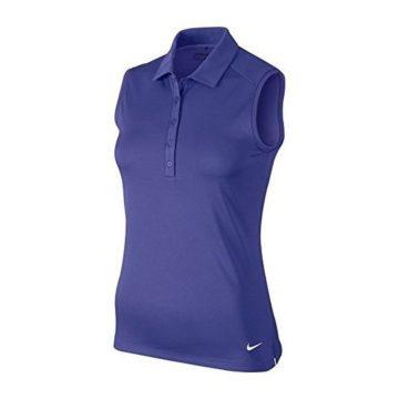Nike Victory Solid Sleeveless Golf Polo 2016 Womens Deep Night White Small