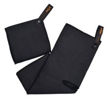 Sunland Microfiber Deep Waffle Weave Golf Towels with Free Golf Balls Towel 16″x37″ Black