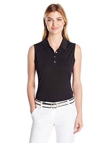 adidas Golf Women Performance Polo Sleeveless TShirt Black Medium