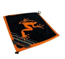 Frogger Golf Wet and Dry Amphibian Towel  Orange Black