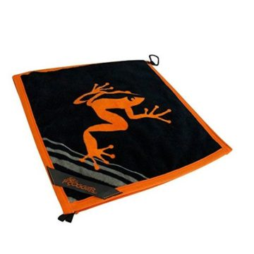 Frogger Golf Wet and Dry Amphibian Towel  Orange Black