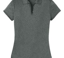 Joe USA DRIEquip(tm) Ladies Heathered Moisture Wicking Golf PoloCharcoal3XL