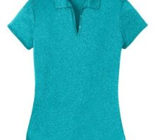 Joe USA DRIEquip(tm) Ladies Heathered Moisture Wicking Golf PoloTropicBlue3XL