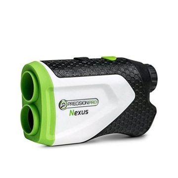 Precision Pro Golf Nexus Golf Rangefinder  Laser Golf Range Finder Accurate To 1 Yard 400 Yard Range 6X Magnification Carrying Case