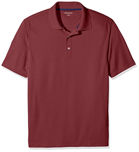 Amazon Essentials Men RegularFit QuickDry Golf Polo Shirt Port Large