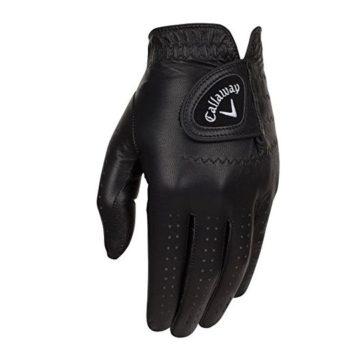 Callaway Golf 2017 Men OptiColor Leather Glove Black Large Worn on Left Hand