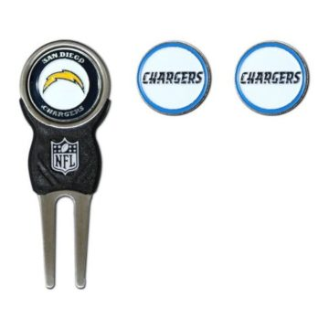NFL San Diego Chargers Divot Tool Pack With 3 Golf Ball Markers