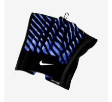 NIKE Face Club Jacquard Towel Black White Military Blue