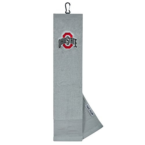 Ohio State Buckeye Face Club Embroidered Towel