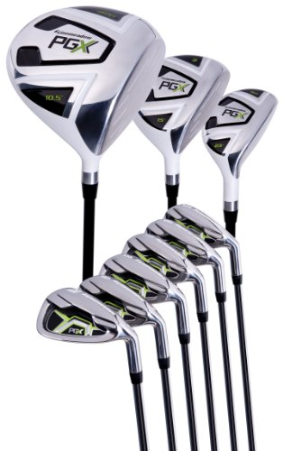 Pinemeadow Men PGX Golf SetDriver 3 Wood Hybrid 5PW Irons