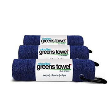 3 Pack of Navy Blue Microfiber Golf Towels