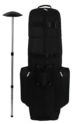 Caddy Daddy Golf CDX10 Golf Bag Travel Cover with North Pole Club Protector Black