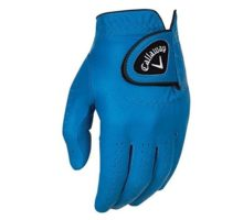 Callaway Golf 2017 Men OptiColor Leather Glove Blue Medium Large Worn on Left Hand