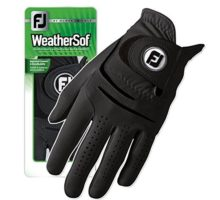 New FootJoy WeatherSof Mens Black Golf Glove  Worn of Left Hand