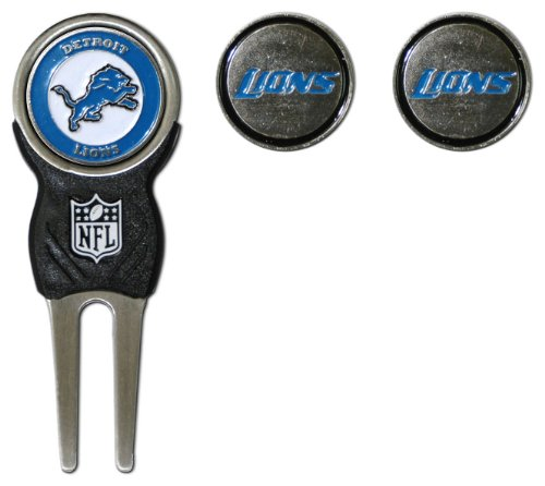 NFL Detroit Lions Divot Tool Pack With 3 Golf Ball Markers